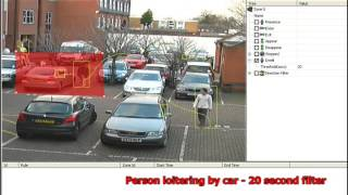How to set up GXi Video Analytic Rules: Person loitering by car (20 second filter)