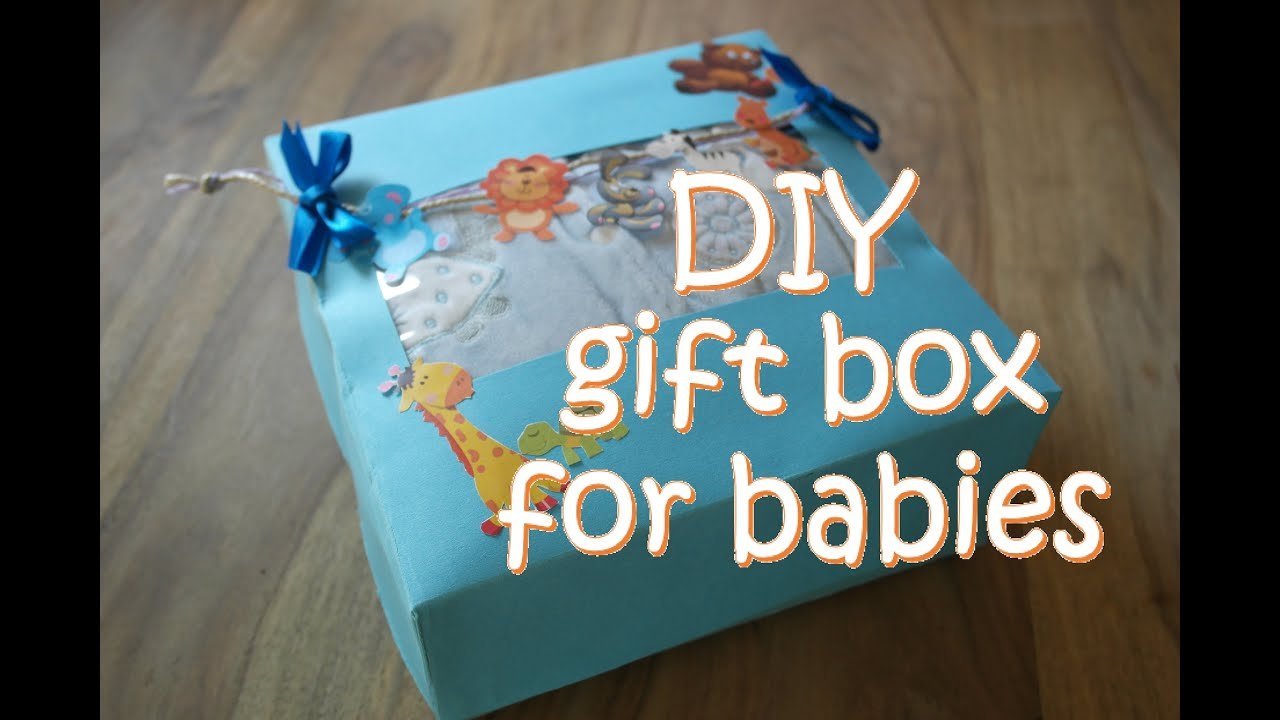 diy gift box for babies diy baby shower gift box, Baby shower