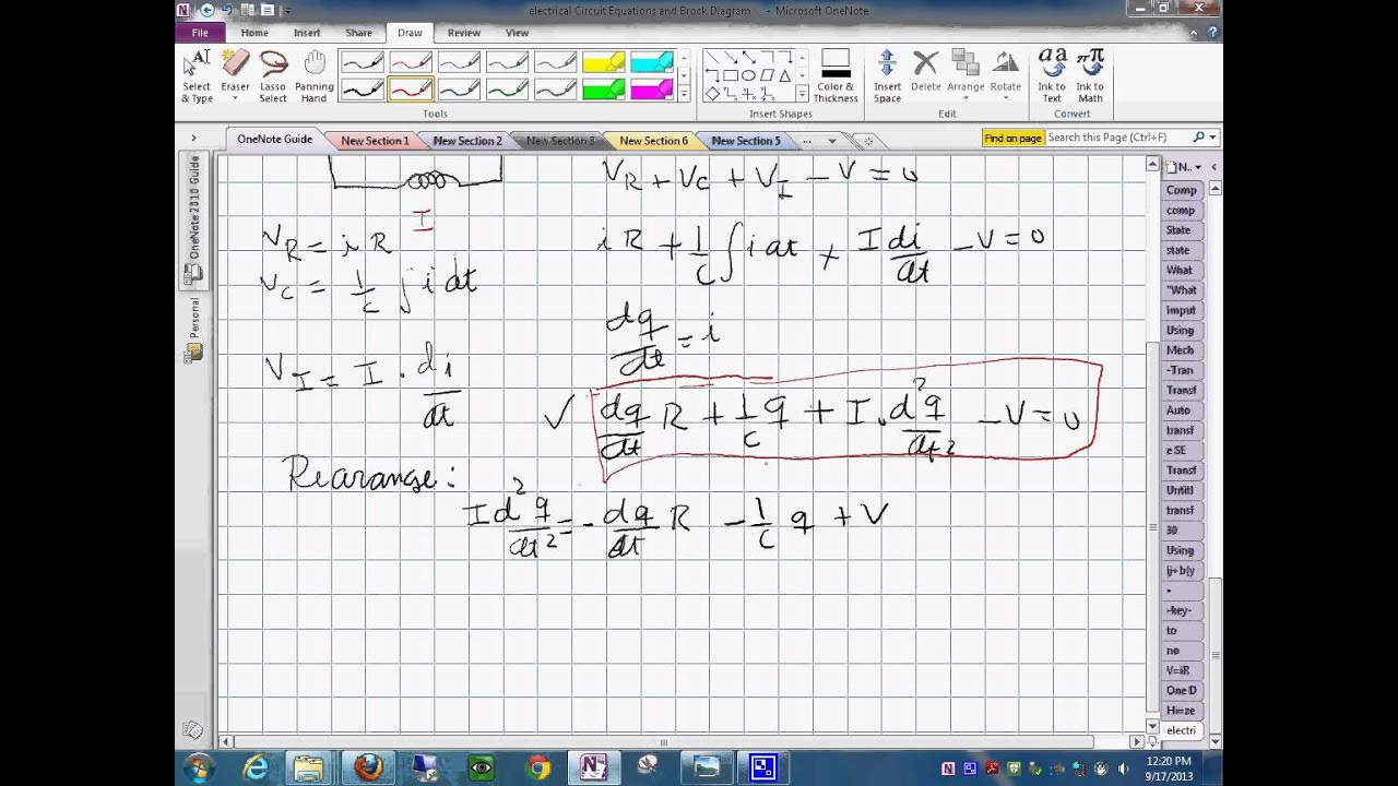 hight resolution of electrical system differential equations and block diagram 1792013 1228 0