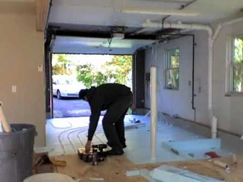 Radiant Heat Tubing Install -Time Lapse