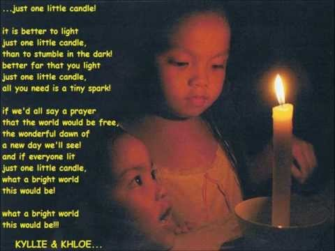 just one little candle... kyllie and khloe