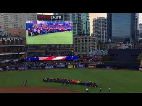 National Anthem San Diego Padres 4/27/2018