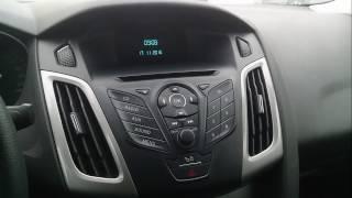 Настройка даты и времени на дисплее  Ford Focus 3 (форд фокус 3)