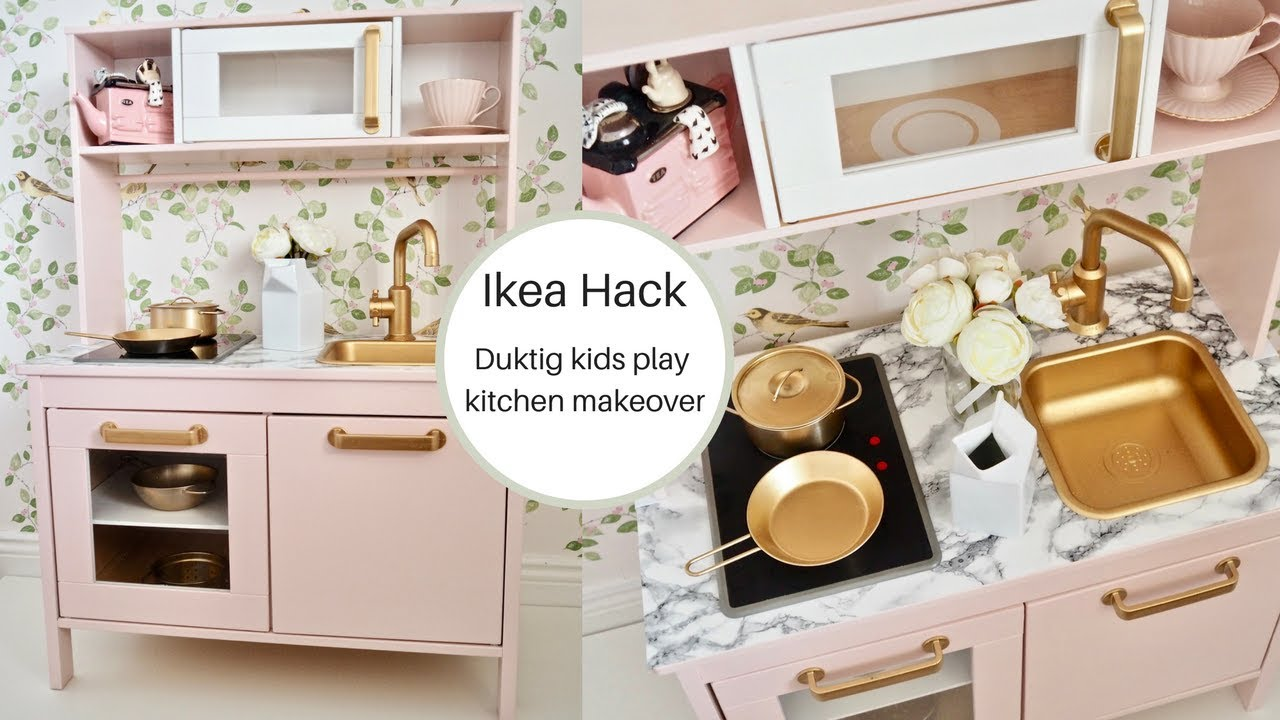 play kitchen ikea blue rugs how to hack an kids duktig youtube diyonabudget daintydiaries ikeahack