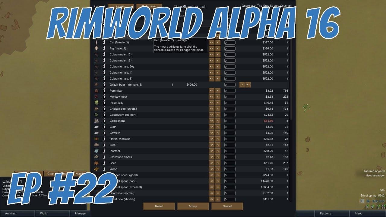 Rimworld alpha 16 - EP 22 - Caravan trading - Rimworld alpha 16 ...