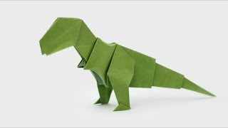 ORIGAMI T-REX (Jo Nakashima) - Dinosaur #5(How to make an origami T-Rex Designed by Jo Nakashima (04/07/2015) Support my channel! https://www.patreon.com/jonakashima 3D Head for the T-Rex:..., 2015-07-10T11:09:48.000Z)