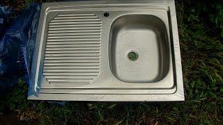 Мойка для кухни накладная Запорожсталь 800×600×150 мм. с крылом. Обзор Пламбер
