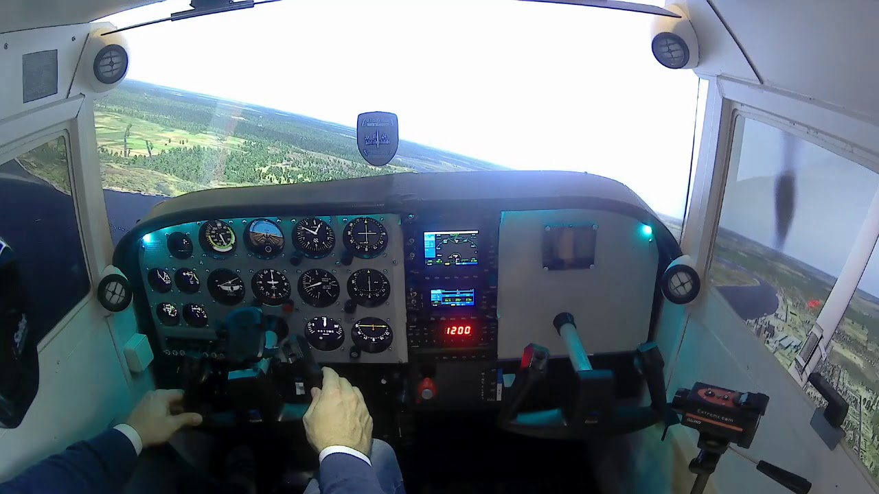 Cessna Home Cockpit - KFYJ airport - Xplane11 Flight Simulator