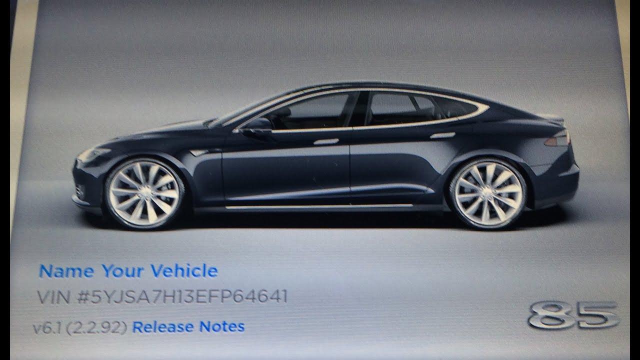 New Tesla Model S 85 interior changes, firmware 6.1 (uncut) - YouTube