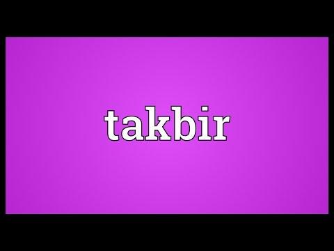Takbir Meaning
