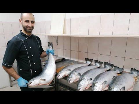 Сёмга. Как разделать сёмгу. Лосось. Art of cutting salmon.