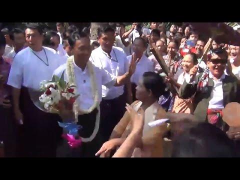 Thura Shwe Mann Campaigns in Phyu, Bago Region