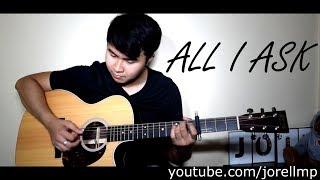 Adele | Bruno Mars - All I Ask (Fingerstyle by Jorell) KARAOKE | ACOUSTIC | INSTRUMENTAL