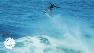 John John Florence Massive Alley-Oop during Billabong Pipe Masters 2016 Lay-Day