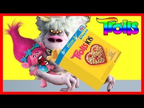 Dreamworks TROLLS Movie Poppy Eats Cheerios Part 2   Bergens Chef Ellie Sparkles