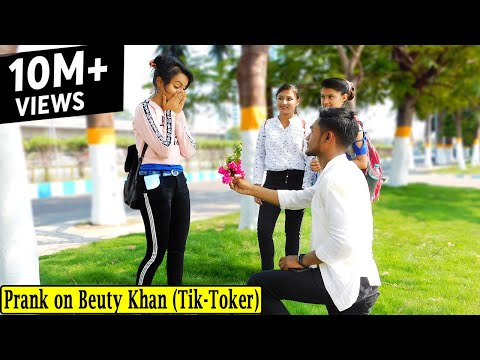 Prank on Beuty Khan || Proposing Prank on Beuty Khan || Ft. Beutykhan || The Funky Express