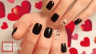 Маникюр на короткие ногти Ко дню св Валентина