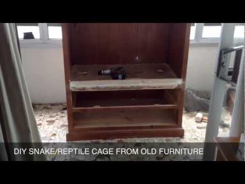 DIY SNAKE-REPTILE ENCLOSURE