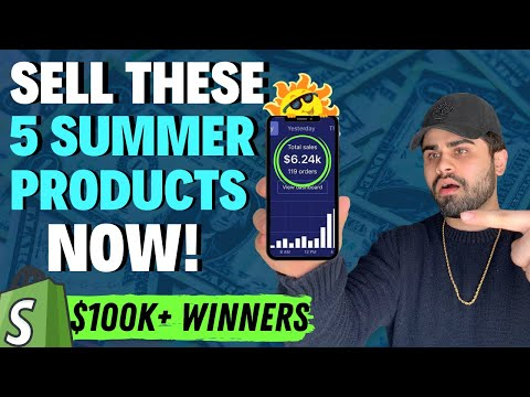 🤑TOP 5 Products To Dropship In Summer 2020 ($100K+ Winners) | Shopify Dropshipping thumbnail