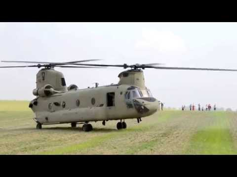 The US Army made a surprise helicopter landing in Poland, Gruta