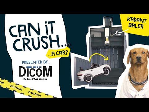 Can It Crush... A Car? - Crushing A Car | Dicom Kadant Paal Vertical Baler