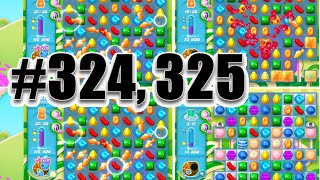 Candy Crush Soda Saga Level 324 And 325 | Complete! No Booster!