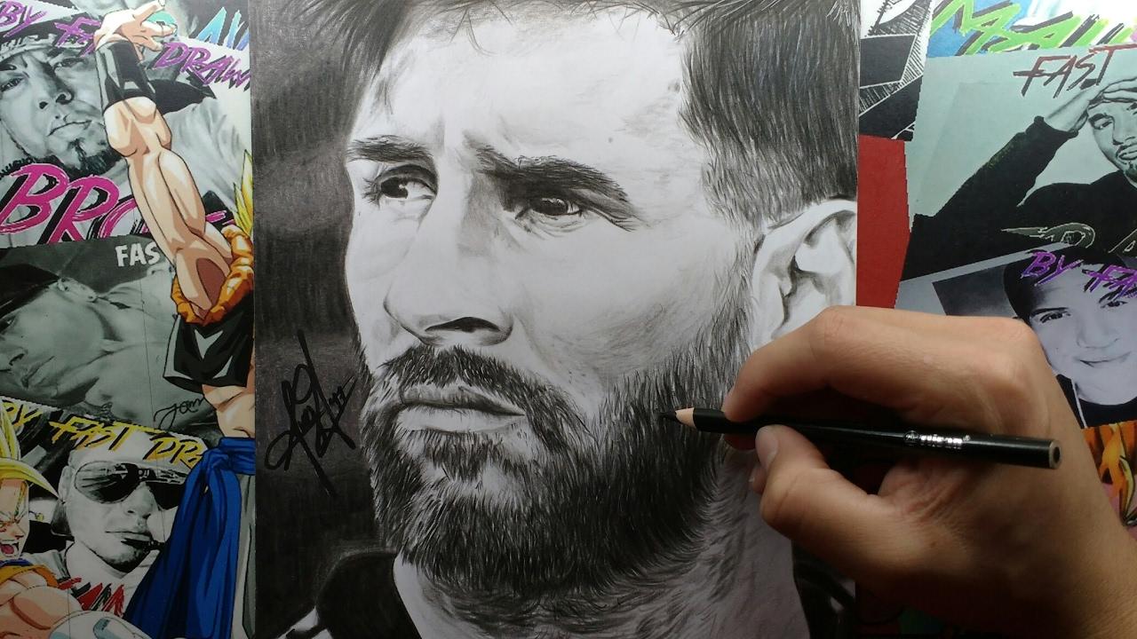 Dibujo de Lionel Messi  By Steven Builes  YouTube