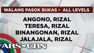News Patrol: Mga lugar na walang pasok bukas | August 12, 2018