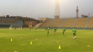 تدريبات منتخب زيمبابوي استعدادا لمواجهة مصر في افتتاح أمم أفريقيا