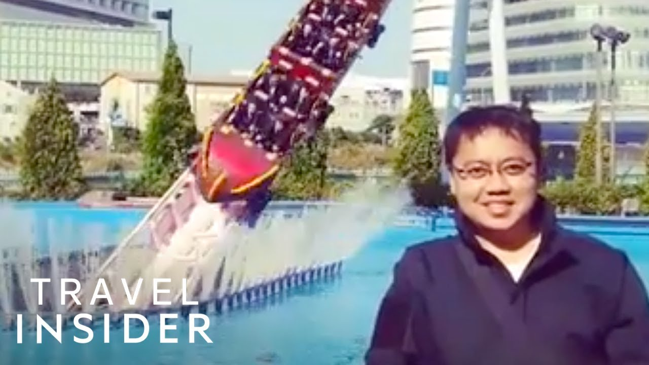 Japanese Roller Coaster Dives Under The Water