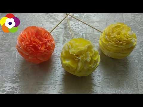 DIY Handmade Flowers - How to Make Tissue Paper Flowers + Tutorial !