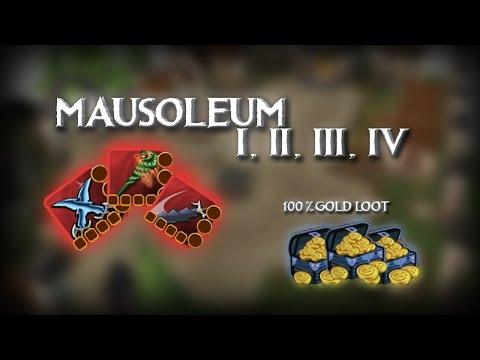 MAUSOLEUM I, II, III, IV 100% GOLD LOOT //ARCANE LEGENDS