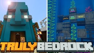 Truly Bedrock - S1 E15 - Aqua Wonders is NOW OPEN! No pebbles shenanigans! - Minecraft SMP