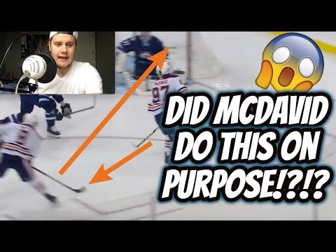 Did Connor McDavid do this on purpose??