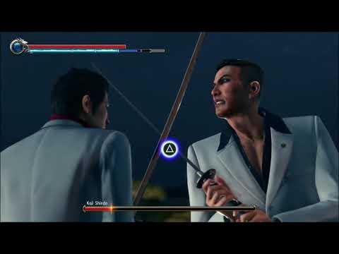 Yakuza Kiwami 2 - Kiryu VS  Shindo - No Damage, no extreme mode, weapons, equipment, hard.  