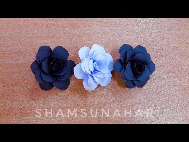 কাগজের ফ�ল   কাগজের গোলাপ   kagojer Golap   kagojer Ful   Rose   Diy Paper Craft : Rose