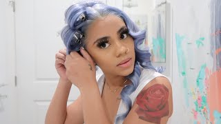 dying my hair a soft blue color 💙 | ISEE HAIR on Aliexpress screenshot 4