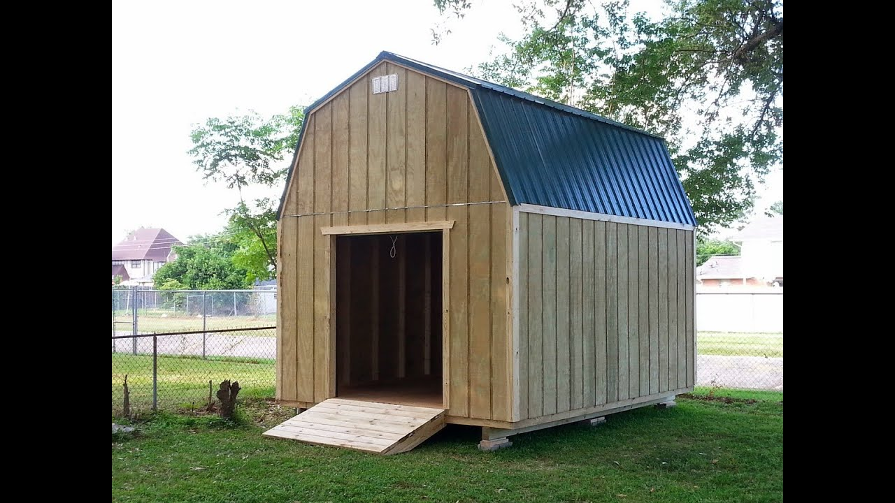 12x16 barn gambrel shed 1 shed plans stout sheds llc for Free barn plans with loft