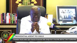 Presidential Assent to the establishment of Office of Special Prosecutor, Zongo Development Fund