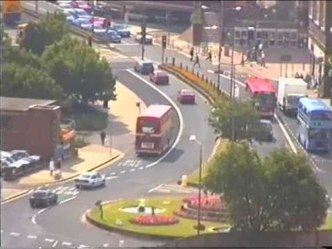 Derby from the top of the Cathedral in 1994, take a Nostalgic look at Derby 17 years ago