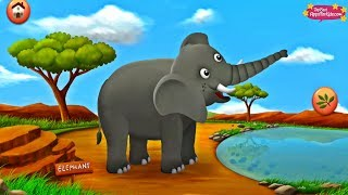 Feeding 10 Safari Animals 🐘 Learning App & Story For Kids 🦁