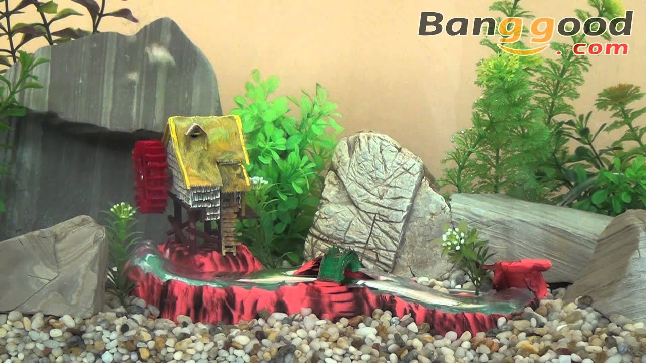 Mill Stream And Small Rice Mill Action Air Aquarium