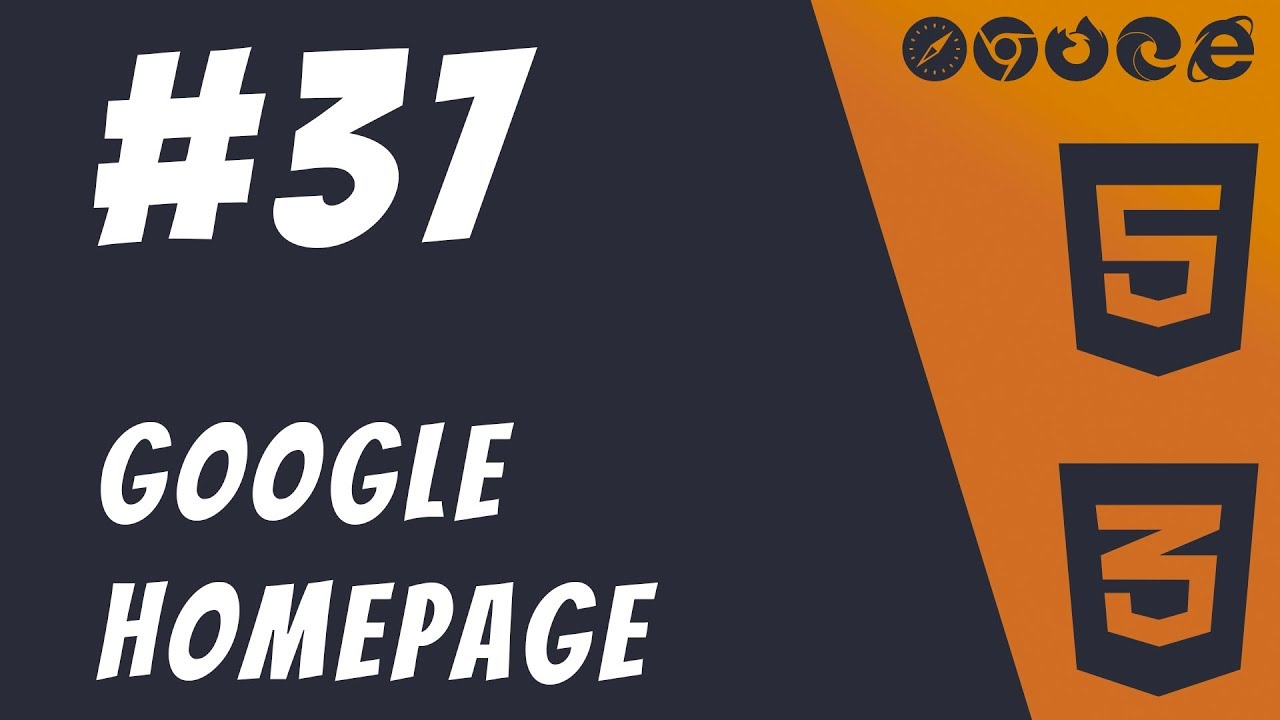 Simple Google Homepage Project - HTML5 + CSS3 Frontend