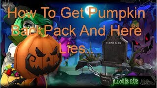 How To Get Pumpkin BackPack And here lies.. in ROBLOX| Roblox HallowsEve2018