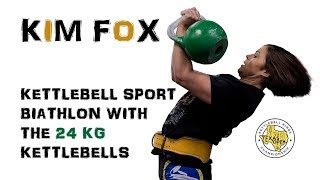 Kim Fox | Kettlebell sport biathlon with the 24 kg kettlebells (Texas, 2018)