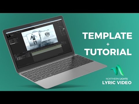 Free Lyric Video Template After Effects - Tutorial - How to make a Lyric Video //Lyric Video Maker