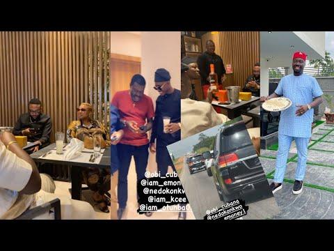 Download EMONEY, JOWIZAZA, KANAYO. O. KANAYO, & Others Arrive Oba With Money Spraying On Obi Cubana Welc Them