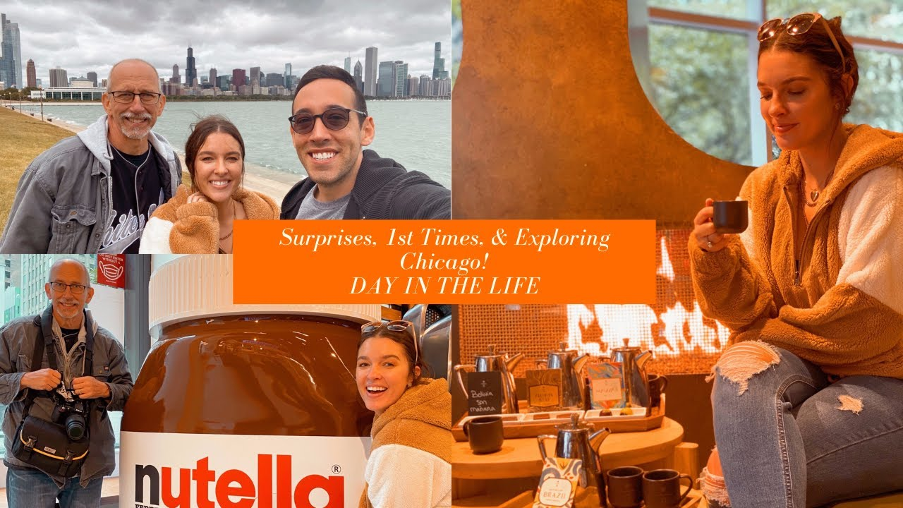 SURPRISES, 1ST TIMES, & EXPLORING CHICAGO! | DAY IN THE LIFE