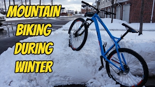 Mountain Biking in the Snow - Winter Sucks