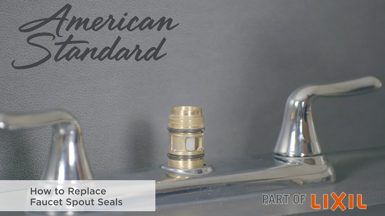 How To Replace Faucet Spout Seals You
